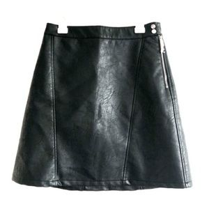 NWT Zara Black Leather Mini Skirt